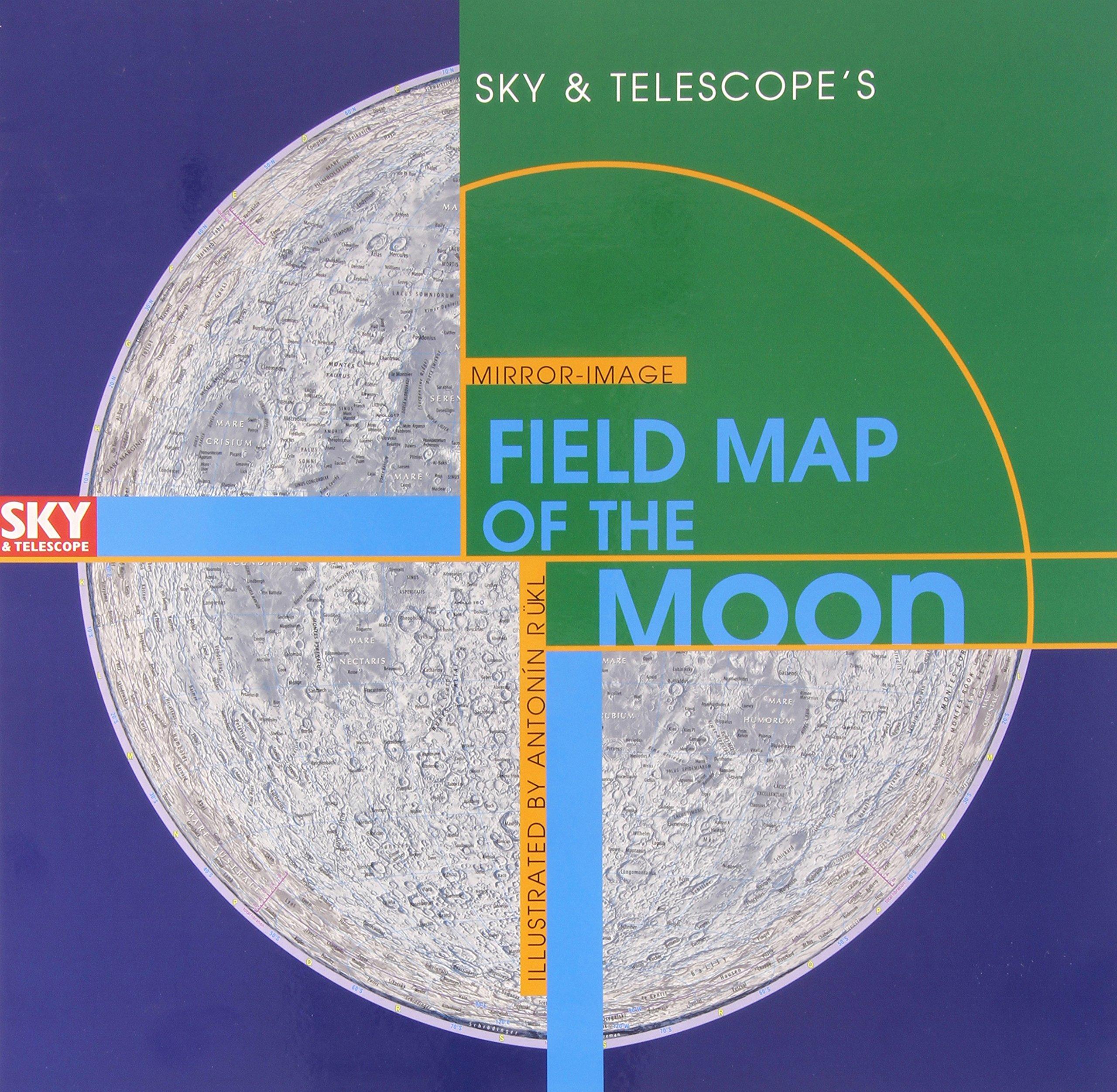 Sky  Telescopes MirrorImage Field Map of the Moon Antonn Rkl