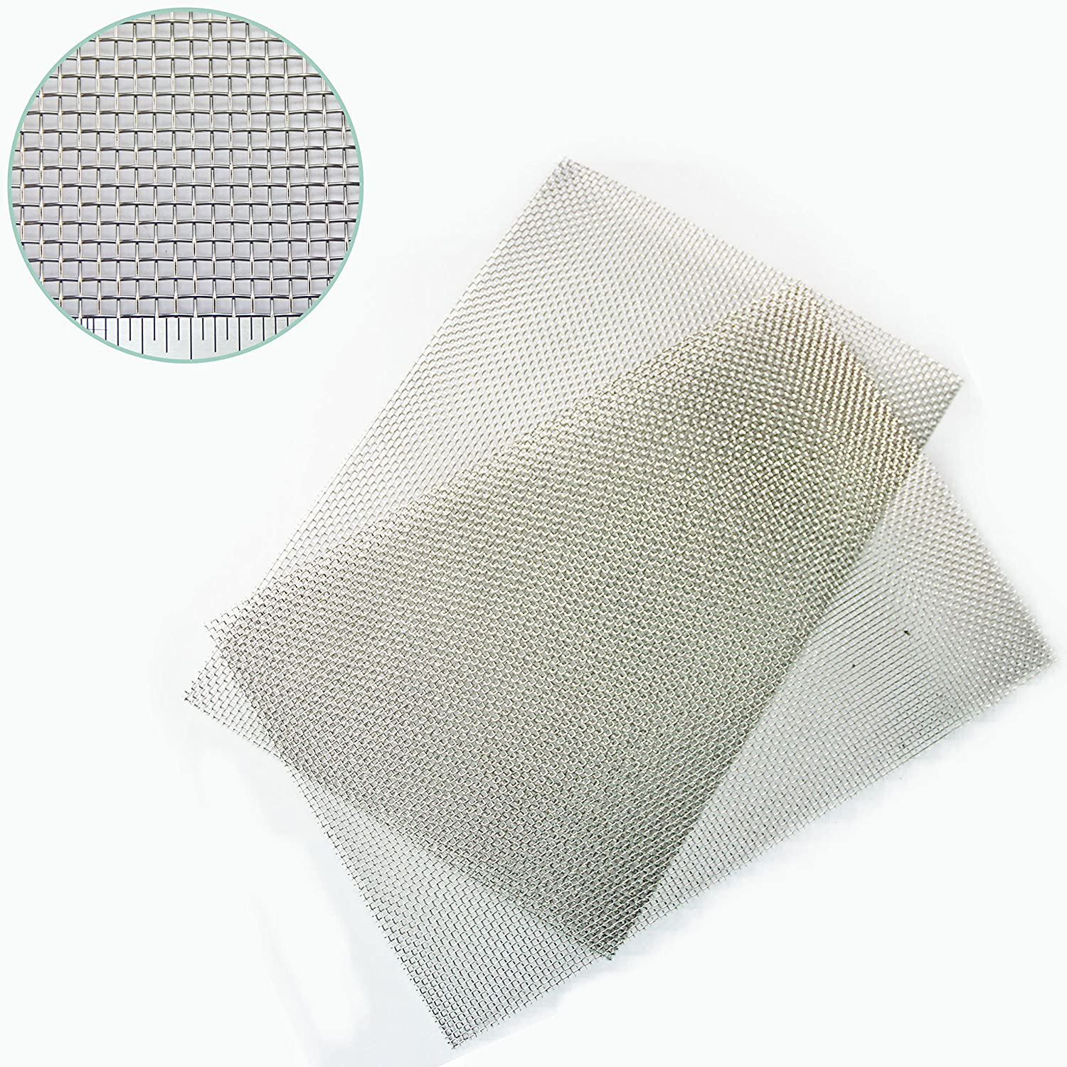 The Mesh Company's Heavy Duty (2mm) Rodent Mesh - Stainless Steel Woven Mesh -Pack of 2 A4 210 x 300mm) - Great for Airbricks - Fast + Free Shipping