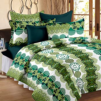 Buy StoryHome Candy Jaipuri Home Bedsheets for Double Bed Cotton