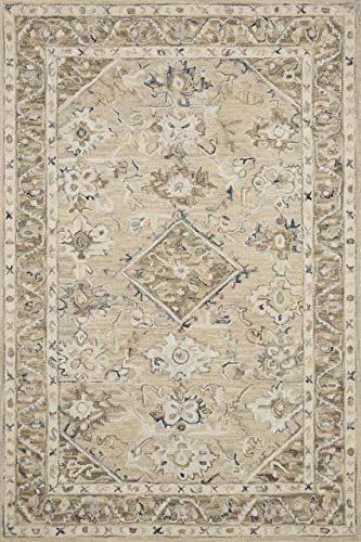 Loloi ll Beatty Collection Traditional Oriental Area Rug, 3 6 x 5 6 , Beige Ivory