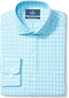 Buttoned Down Men's Classic Fit Cutaway-Collar Pattern Non-Iron Dress Shirt With Pocket