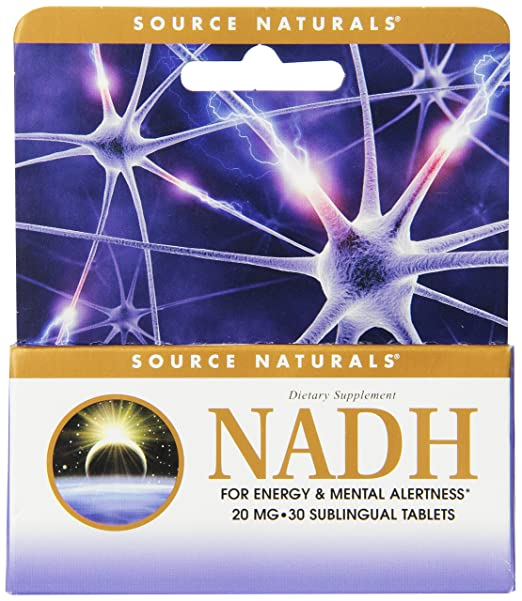 Source Naturals NADH 20mg, 30 Sublingual Tablets