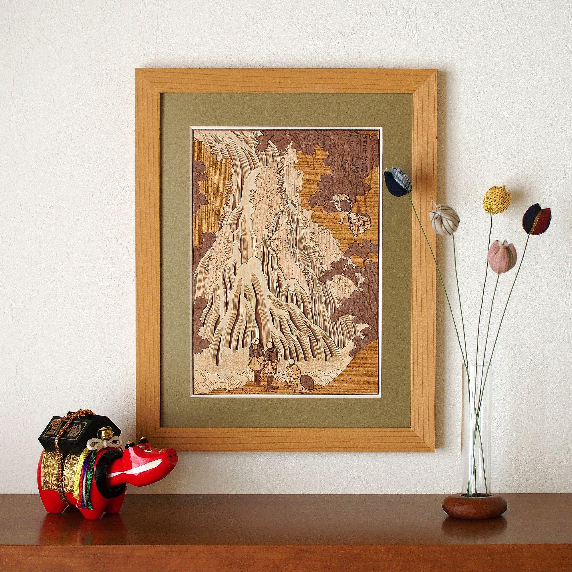 KINOWA Ukiyoe Art Kit Kiharie Kirifuri Waterfall at Mt. Kurokami in Shimotsuke Made in Japan by KINOWA (Image #6)