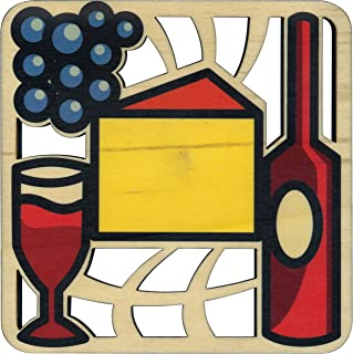 product image for Solace Printed Wine, Cheese, and Beer Trivet