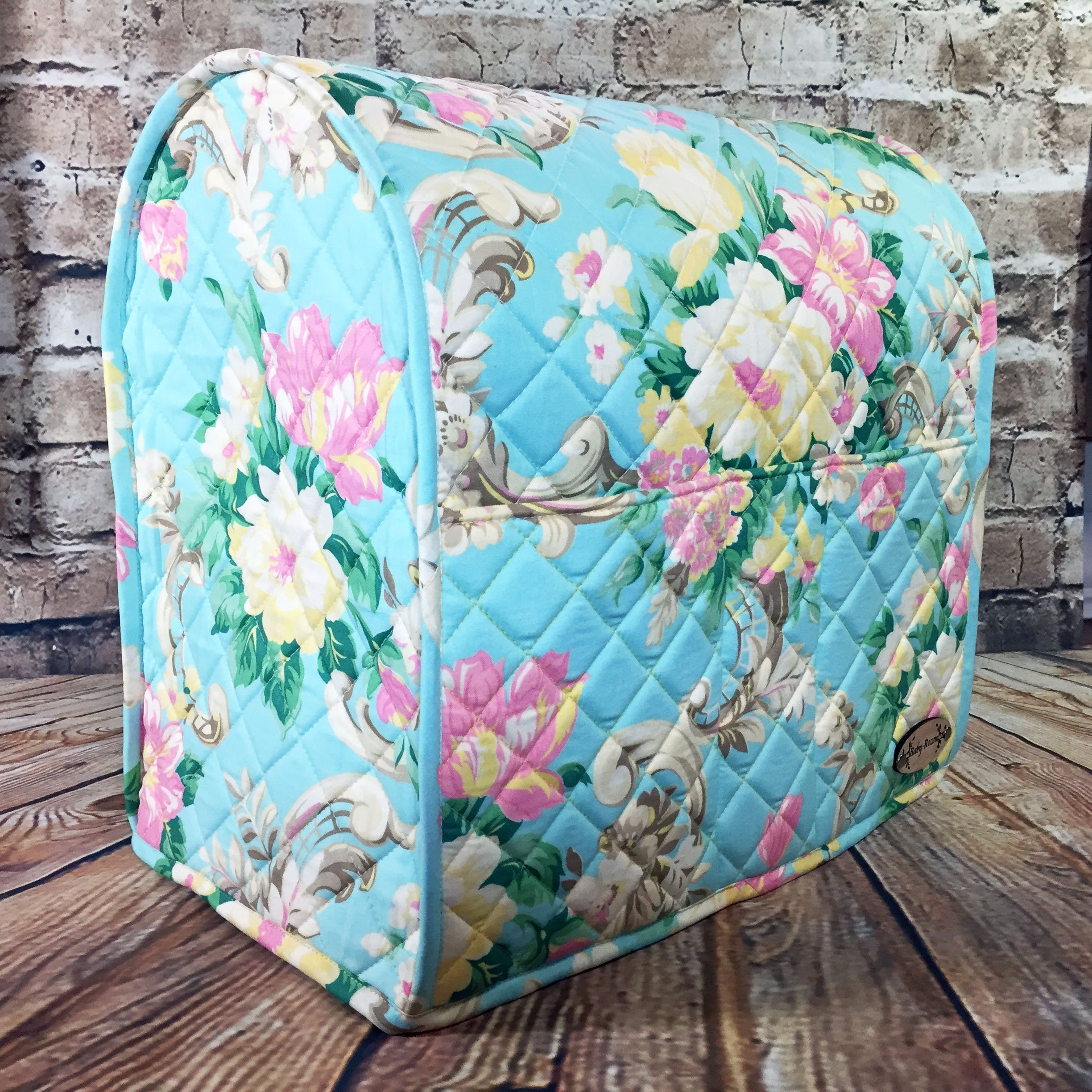 100% Cotton, Custom, Heirloom Quality, Quilted, Mixer Cover, Handcrafted to fit a 4.5 Qt. or 5 Qt. KitchenAid Tilt-Head Stand Mixer, Cozy, Made in Vermont by Baby Rozen Design (Image #4)