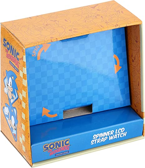 Amazon Com Sonic The Hedgehog Quartz Plastic Strap Blue 15 5 Casual Watch Model Snc4016 Watches