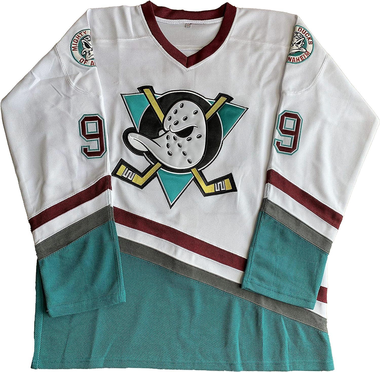 99 Green, XX-Large Charlie Conway #96 Mighty Ducks Adam Banks #99 Movie Ice Hockey Jersey Green White