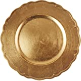 Charge It by Jay A215GR Round Regency Charger Plate