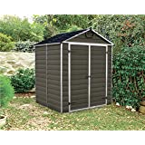 6ft x 5ft Palram SkyLight Shed Dark Brown Brand New Colour Next Day Delivery