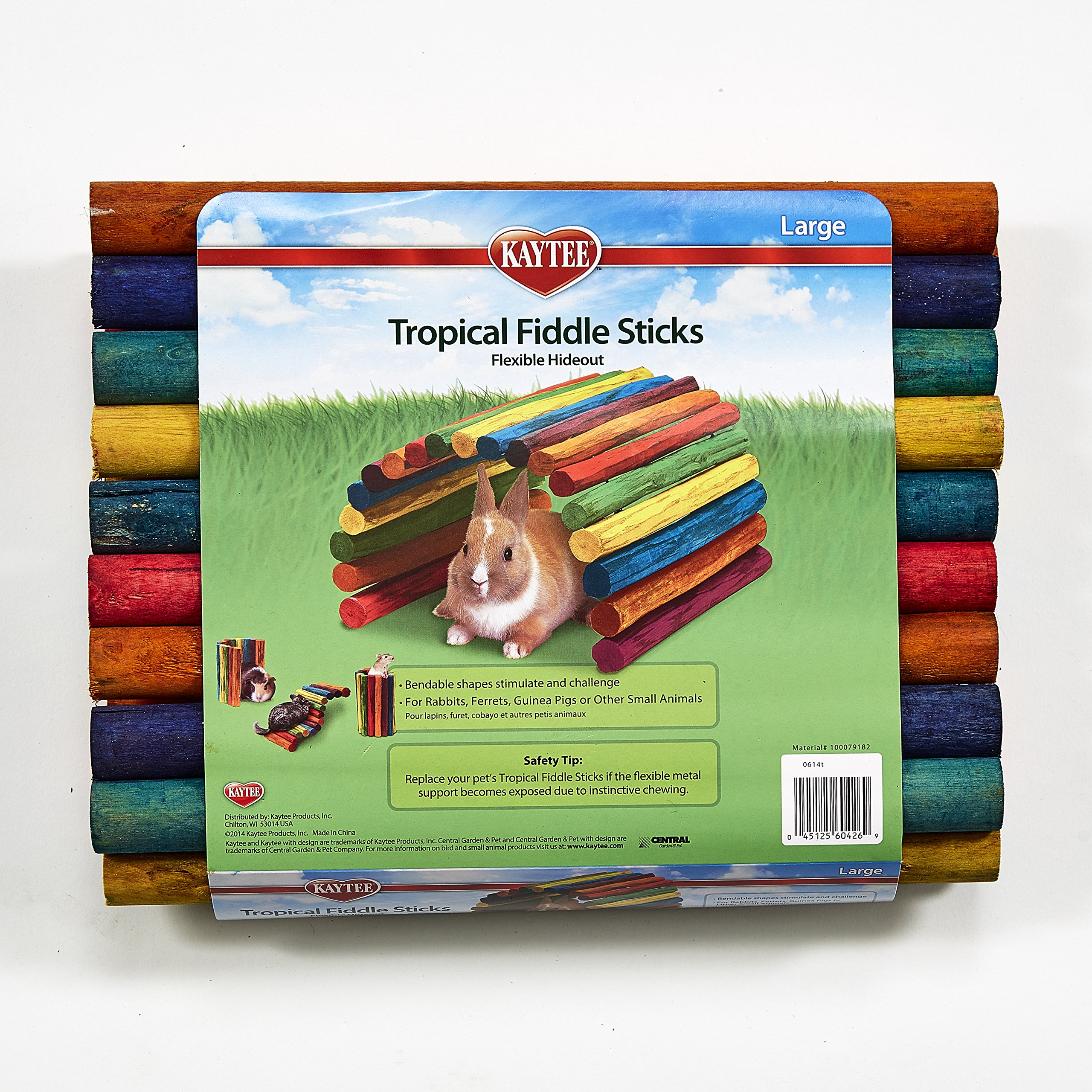 Kaytee Tropical Fiddle Sticks Flexible Hideout - Large