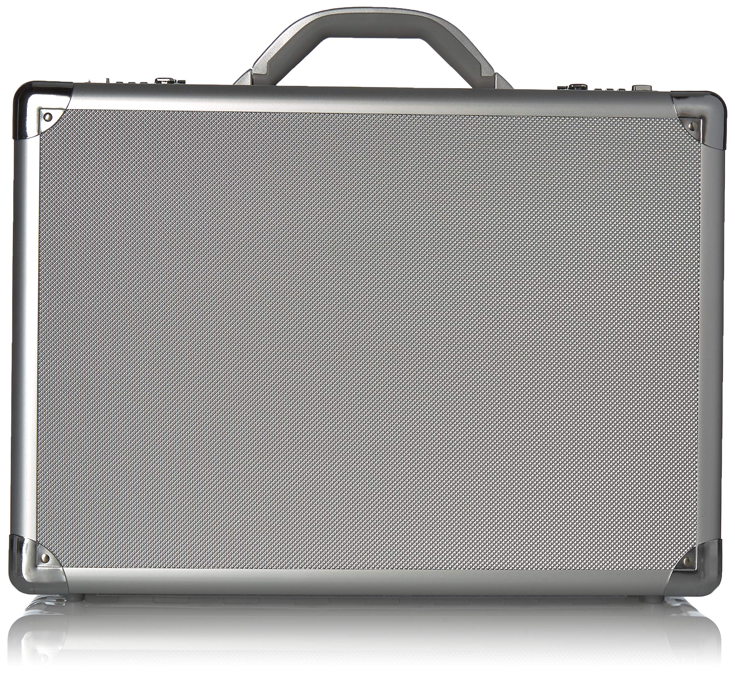Solo New York Fifth Avenue 17.3 Inch Aluminum Laptop Attaché Briefcase, Hard-sided with Combination Locks, Silver by SOLO