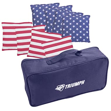 Triumph Patriotic 8-Pack 6  x 6  16 oz. Canvas Bean Bags