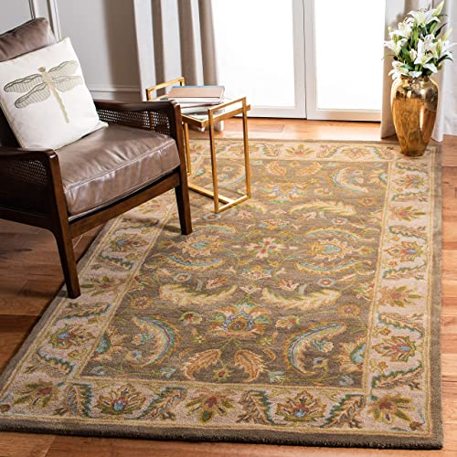 Safavieh Heritage Collection HG964A Handcrafted Traditional Oriental Green and Beige Wool Area Rug 4 x 6
