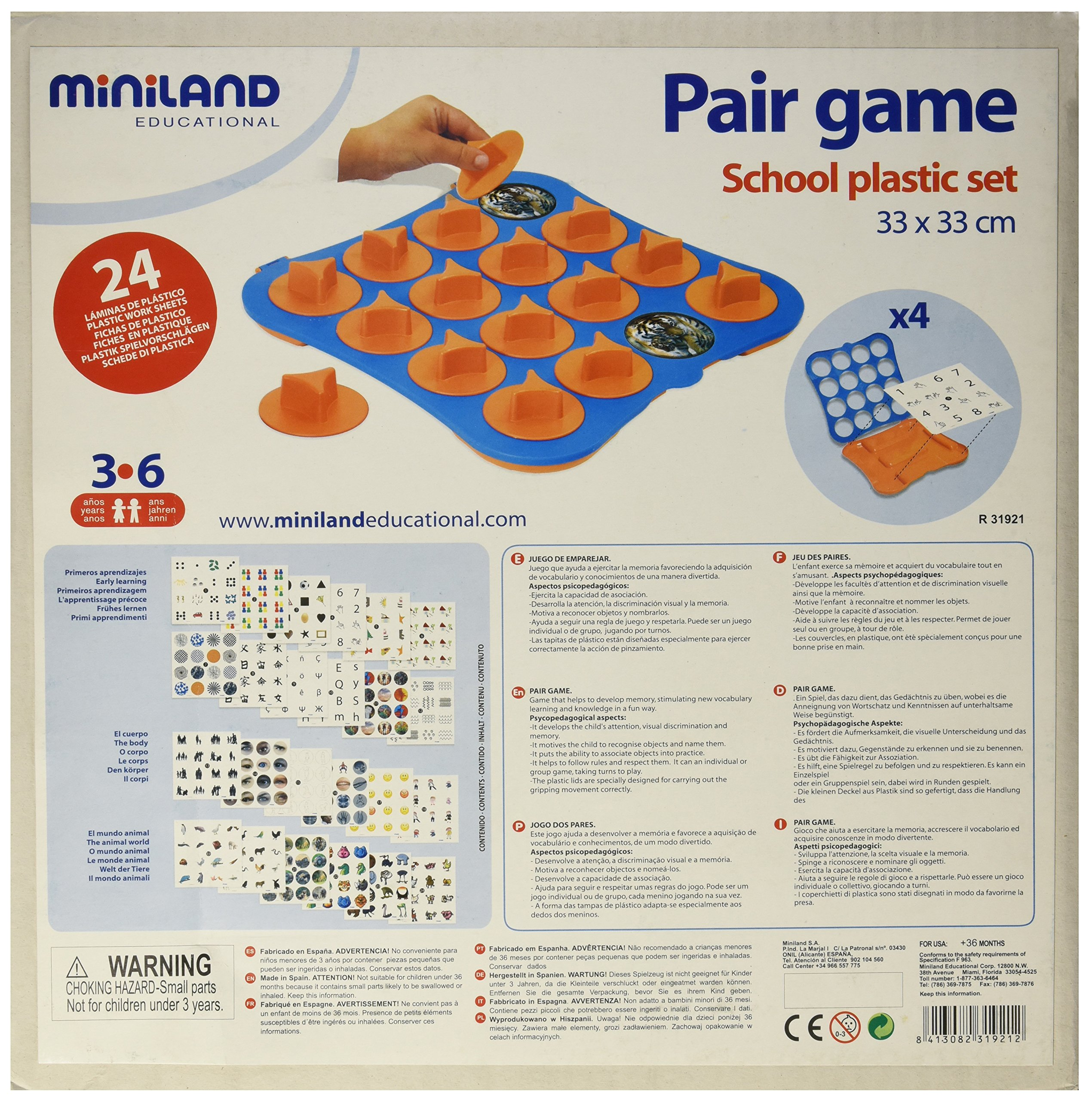 Miniland Pair Game School Set