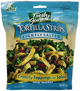 Fresh Gourmet Tortilla Strips, Lightly Salted, 3.5 Ounce (Pack of 9)