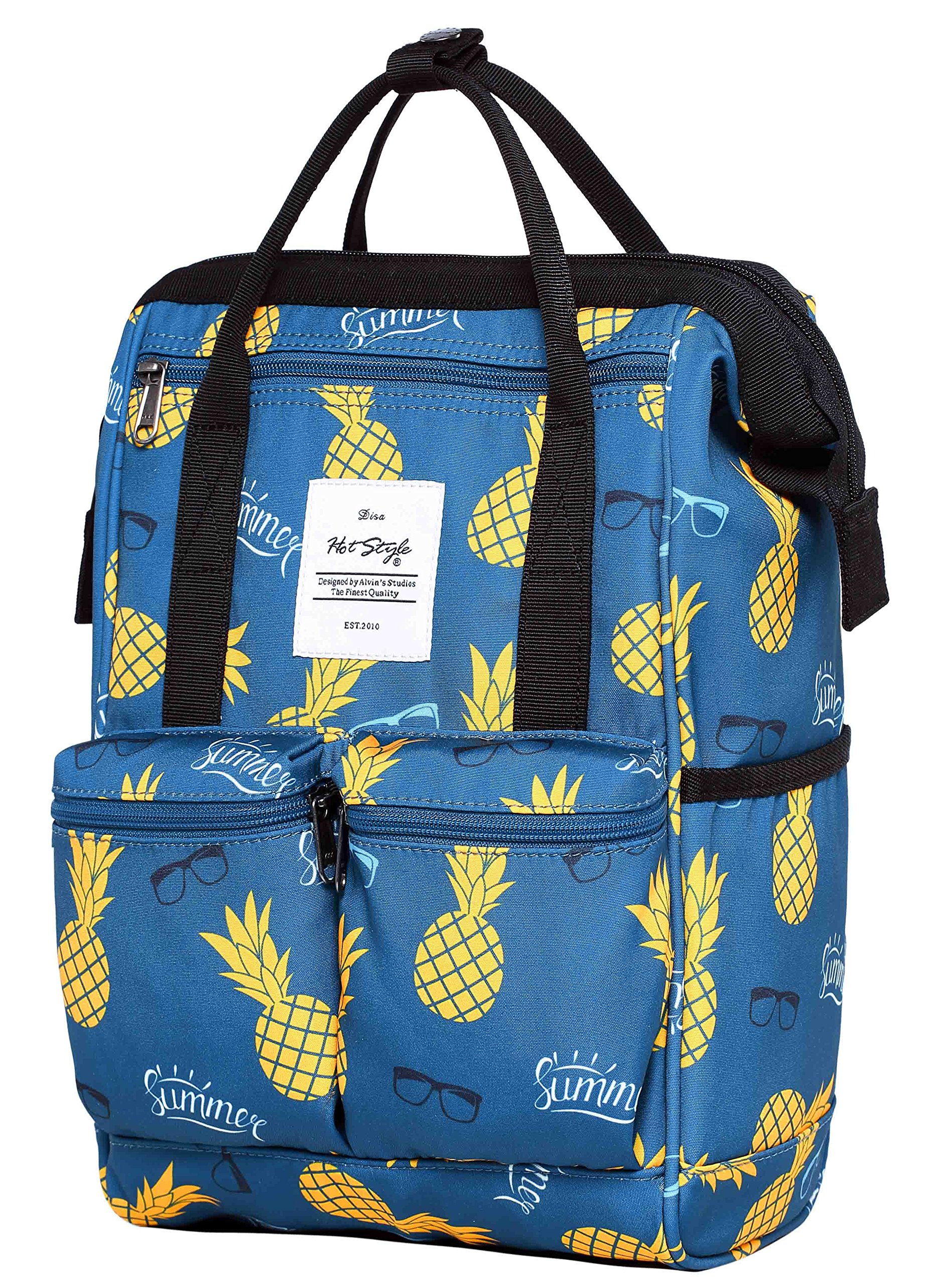 DISA 13'' Mini Small Fashion Backpack Purse | Fits 12-inch iPad Pro | Summer Pineapple
