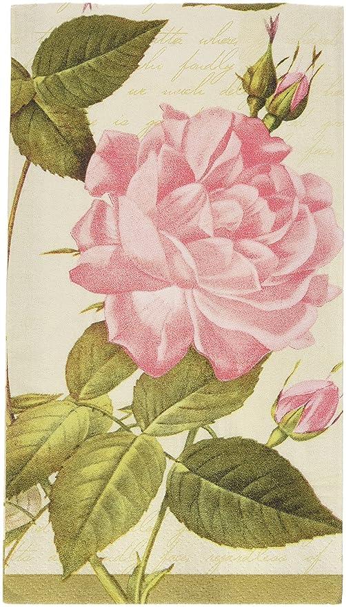 Vintage Rose 2-Ply Guest Towels, 6 Pk. | Party Tableware