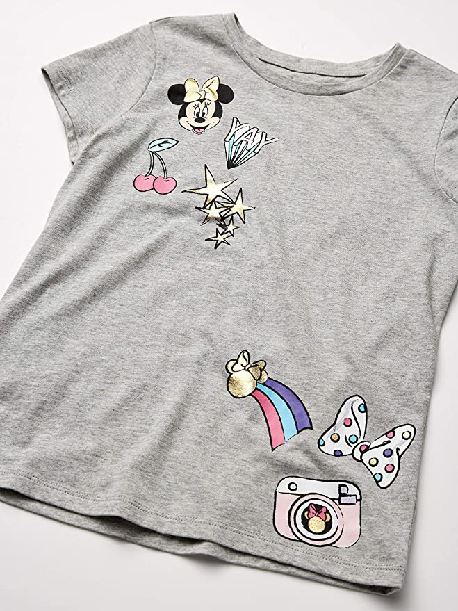 Spotted Zebra Girls Toddler /& Kids Mickey and Minnie Mouse 4-Pack Short-Sleeve T-Shirts Brand
