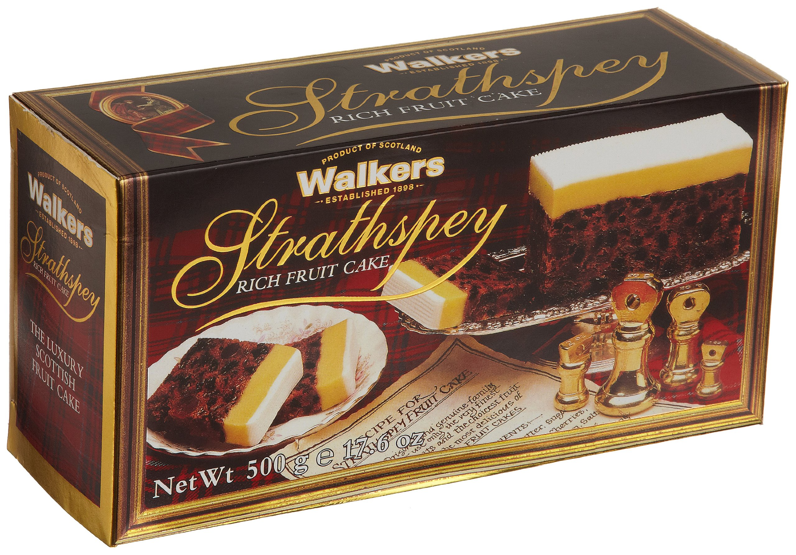 Walkers Shortbread Strathspey Rich Fruit Cake, 17.6 Ounce Box Traditional Fruit Cake from the Scottish Highlands with Dried Fruits, Spices & Almond Marzipan by Walkers Shortbread (Image #1)