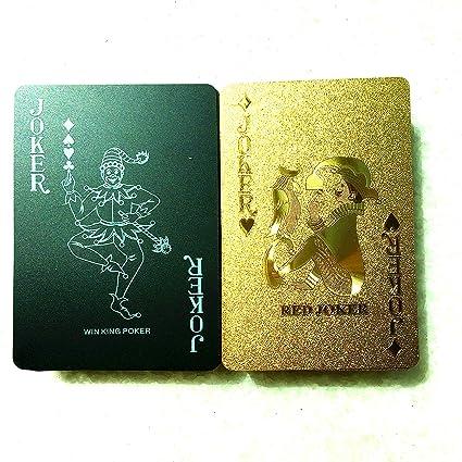 Amazon.com: Tarjetas de póquer de plástico con color negro y ...