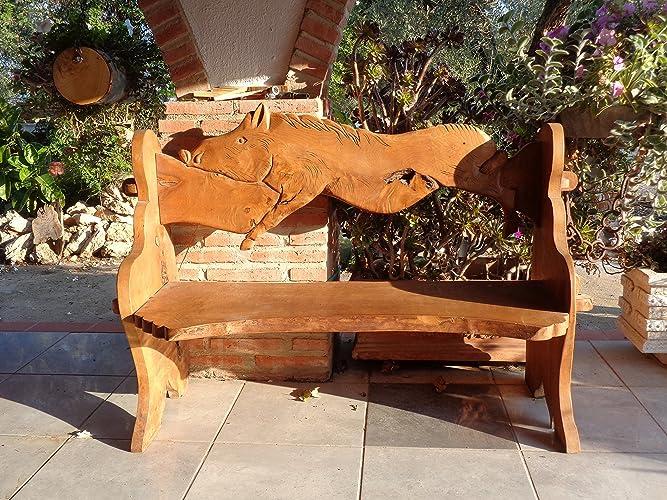 Enjoyable Amazon Com Wild Boar Bench 2 Seater From English Elm Machost Co Dining Chair Design Ideas Machostcouk