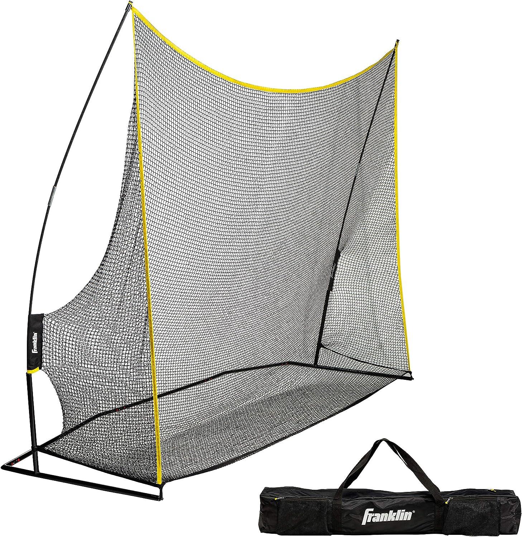 Franklin Sports Golf Training Net – 10 Wide – Heavy Duty Portable Net – Easy Set Up – Large Golf Net – Backyard Net – Includes Heavy Duty Travel Bag