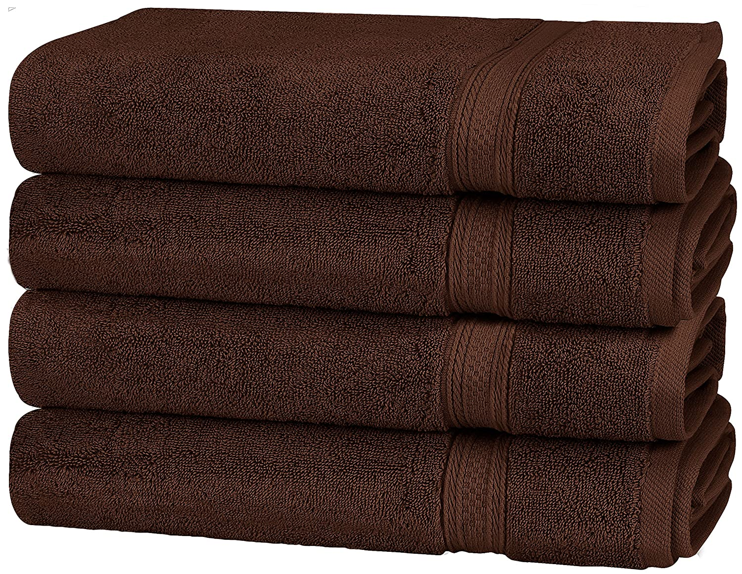 Utopia Towels Premium 700 GSM Cotton Large Hand Towels (Beige, 4-Pack,16 x 28 inches) - Multipurpose Towels for Bath, Hand, Face, Gym and Spa UT0462
