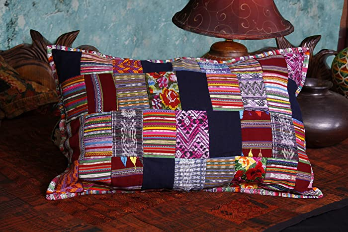 Amazon Puzzle Design Guatemalan Patchwork Bed Size Pillow Cover Inspiration Guatemalan Pillow Covers
