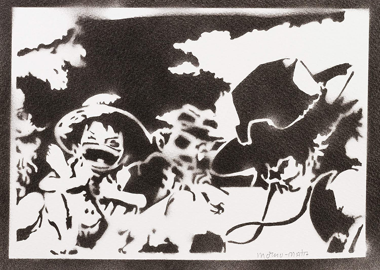 One Piece Luffy Ace und Sabo Poster Plakat Handmade Graffiti Street Art Artwork