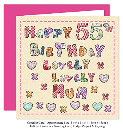 Mum 55th Happy Birthday Gift Set