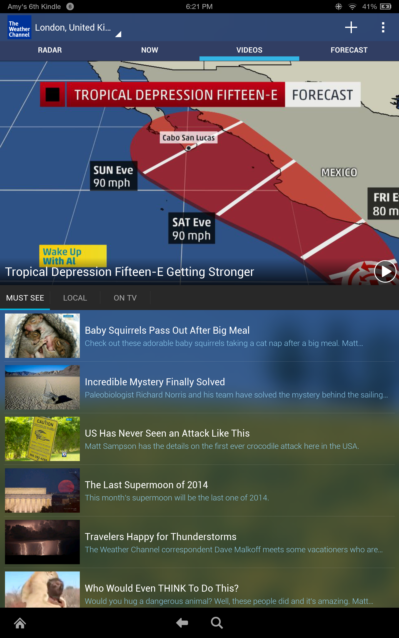 amazon com  the weather channel  forecast  radar  u0026 alerts