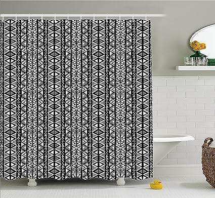 Amazon.com: Ambesonne Retro Shower Curtain, Ethnic Boho Aztec ...