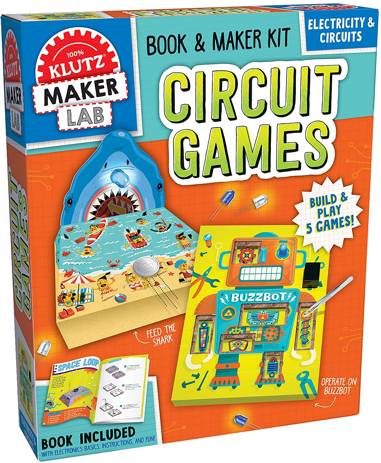 Klutz Maker Lab Circuit Kit Toys Games Boards Like Magic Appears