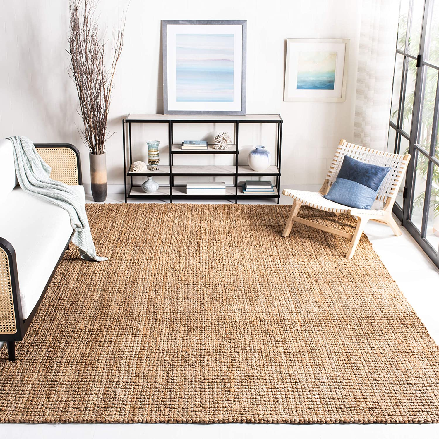 """Safavieh Natural Fiber Collection NF447A Hand Woven Natural Jute Area Rug (5' x 7'6"""")"""