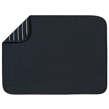 S&T XL Microfiber Dish Drying Mat, 18  x 24 , Black Mesh
