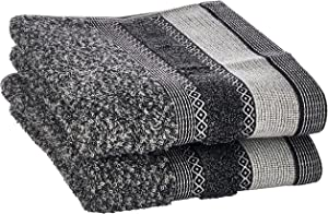 SKL Home by Saturday Knight Ltd. Geo 2 Pc Hand Towel Set, Slate