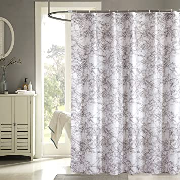 Uphome Modern Trend Style Tan Brown Marble Pattern Bathroom Shower Curtain    Waterproof And Mildewproof Polyester