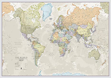 Amazon.: Maps International Classic World Wall Map   Map of