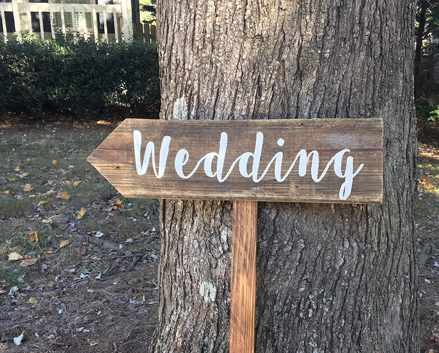 Wooden Wedding Signs.Amazon Com Wedding Arrow Sign With Stake Rustic Wedding