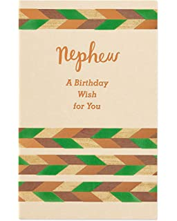 American Greetings Celebrate Birthday Card For Nephew With Foil