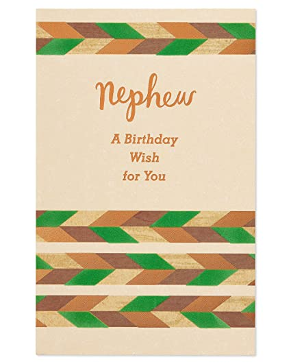 Amazon American Greetings Celebrate You Birthday Greeting Card For Nephew With Foil And Flocking Office Products