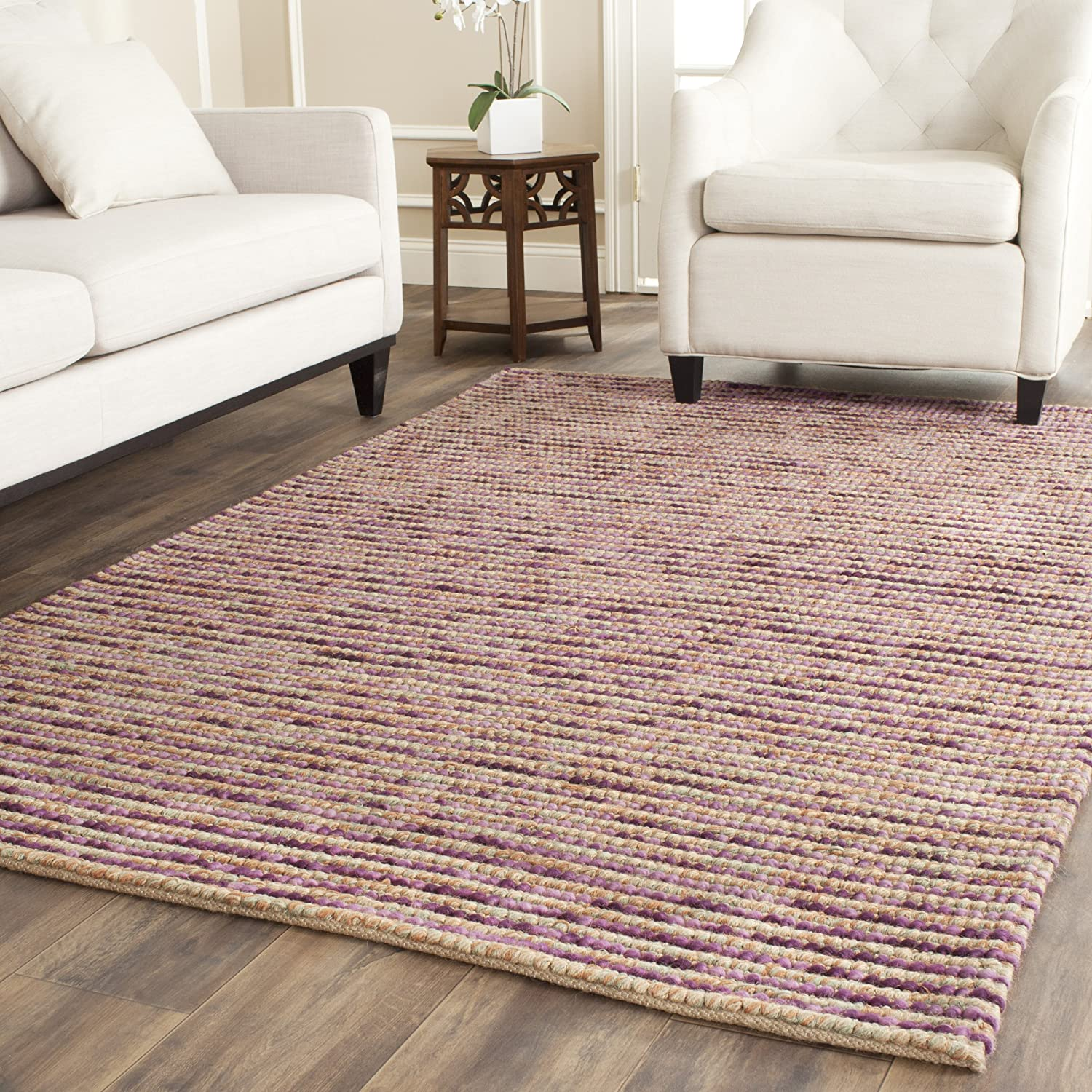 Safavieh Bohemian Collection BOH525F Hand-Knotted Beige and Multi Jute Area Rug, 2 feet by 3 feet (2' x 3') BOH525F-2