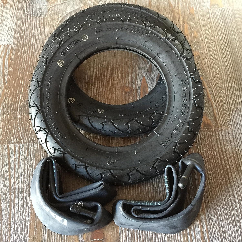 54-152 Fahrrad Kinderwagen Roller Roller Dreirad AV gerade 1x Duro 10 Zoll Reifen Schlauch Autoventil 10x2
