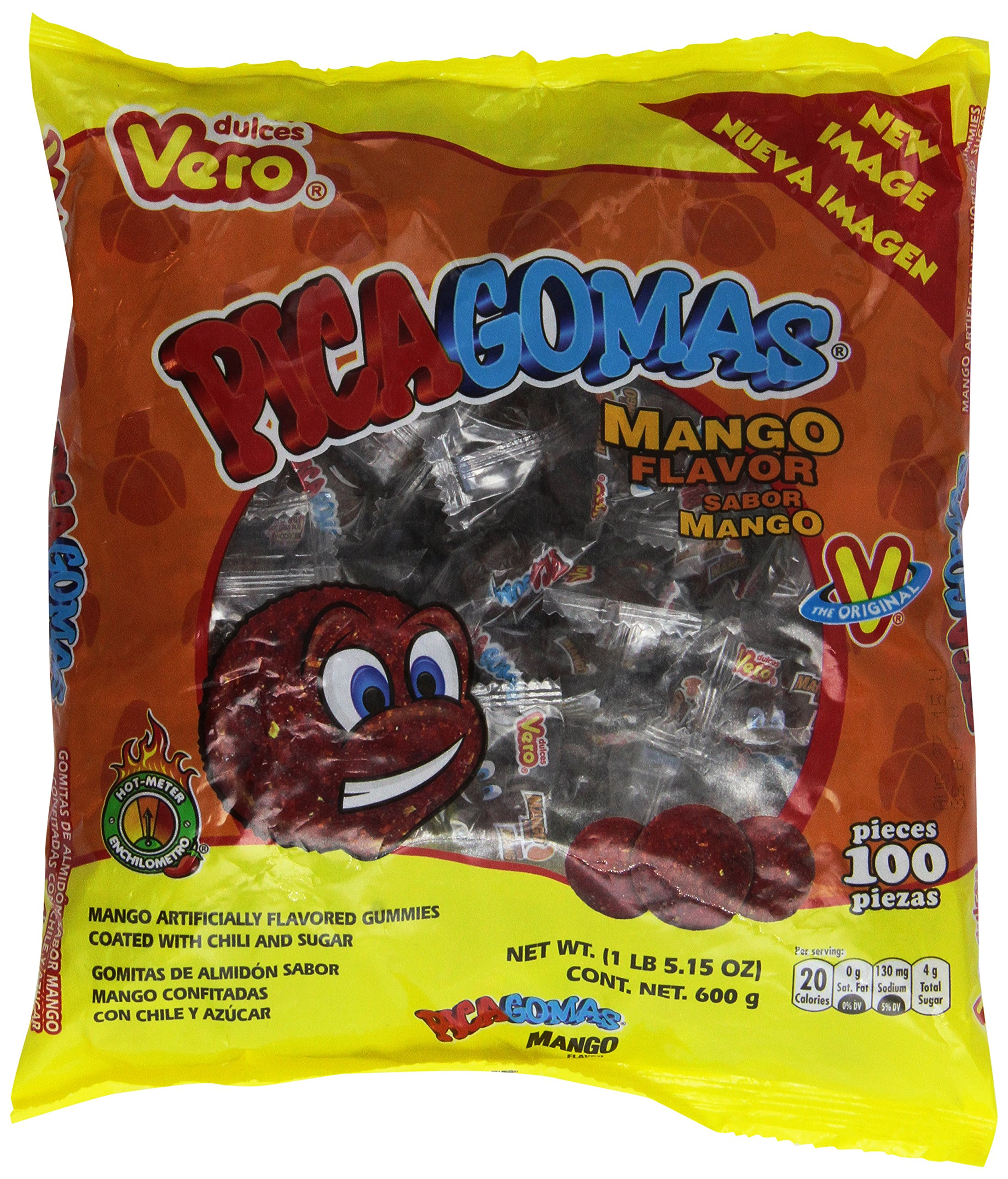 Pica Gomas Sabor Dulces Vero Chili Mango Flavor Mexican Candy