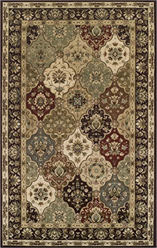 Superior Elegant Palmyra Collection Area Rug, 10mm Pile Height with Jute Backing, Gorgeous Traditional Persian Rug Design, Anti-Static, Water-Repellent Rugs – 8 x 10 Rug