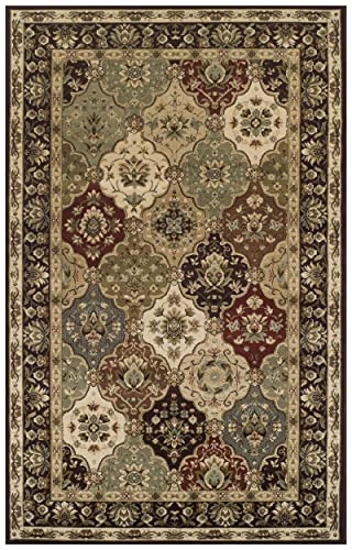 Superior Elegant Palmyra Collection Area Rug, 10mm Pile Height with Jute Backing, Gorgeous Traditional Persian Rug Design, Anti-Static, Water-Repellent Rugs – 4 x 6 Rug