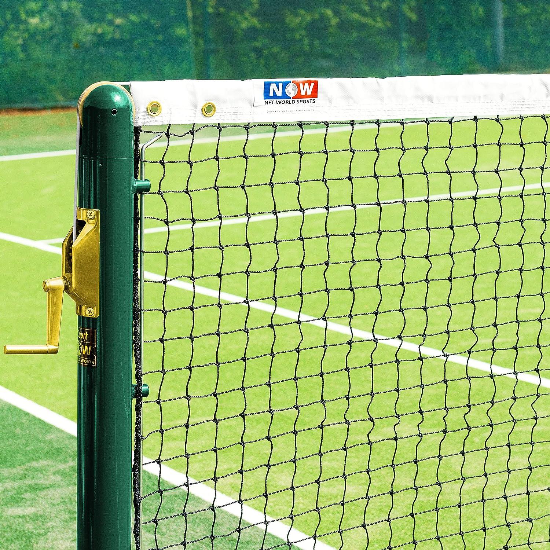 Vermont Redes de Tenis Dobles de 12,8m – Red Reglamentaria para Pistas de Tenis (Malla 45mm con Cinta PVC Blanca)