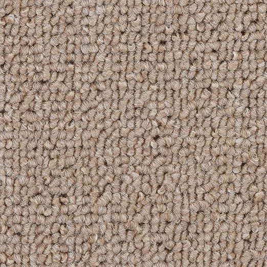 100x400 cm zugeschnittener Bodenbelag Langflor Teppich pflegeleicht weiche /& strapazierf/ähige Auslegeware mit Vliesr/ücken Schlingen-Teppichboden Meliert in Beige gem/ütliche Teppichfliesen