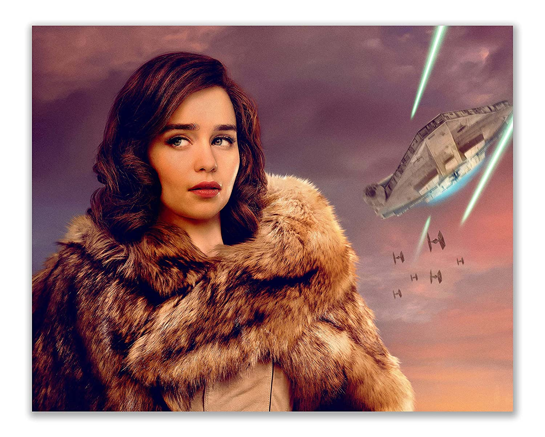 8x10 Star Wars Han Solo Movie Posters Photos of Qira Chewbacca Lando Calrissian Beckett L3-37 Millennium Falcon set of 6