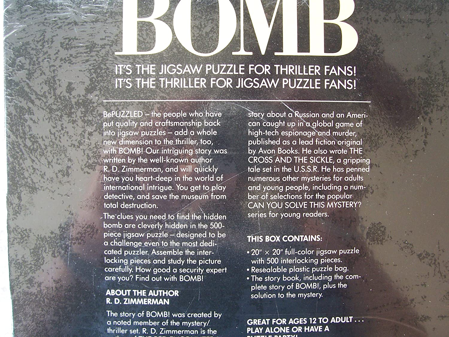 Bepuzzled Bomb A Jigsaw Puzzle Thriller